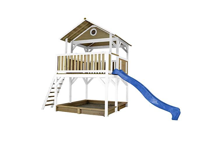 Safari Simba Leketårn med Sklie Brun/Hvit/Blå - AXI - Hage - Hobby & lek - Lekeplass & lekeplassutstyr