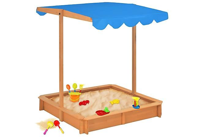 Sandkasse med justerbart tak tre blå UV50 - Hage - Hobby & lek - Lekeplass & lekeplassutstyr