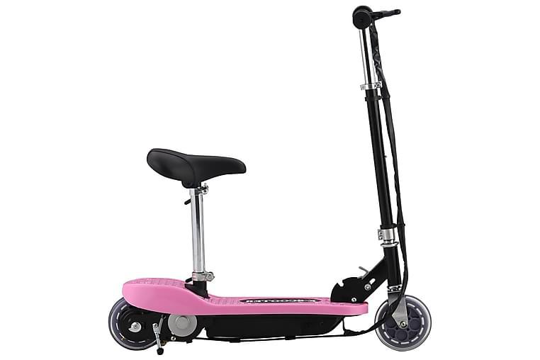 Elektrisk sparkesykkel med sete 120 W rosa
