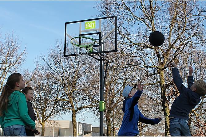 Exit Bærbar Basketkurv - Svart/Grønn - Hage - Hobby & lek - Utendørs spill & sportsutstyr