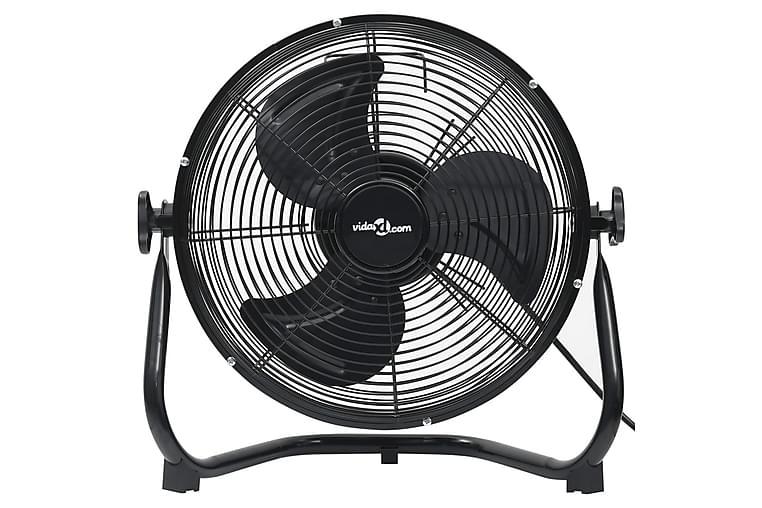 Gulvvifte 3 hastigheter 45 cm 100 W svart - Svart - Hage - Klima og varme - Vifter
