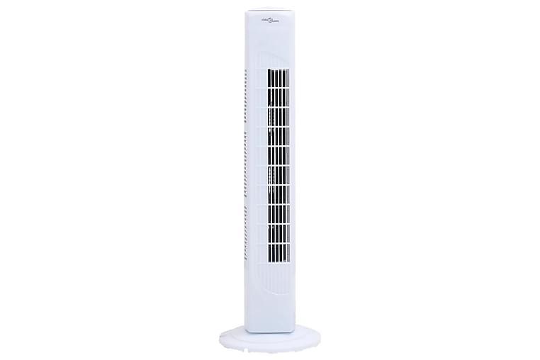 Tårnvifte med timer 24x80 cm hvit - Svart - Hage - Klima og varme - Vifter