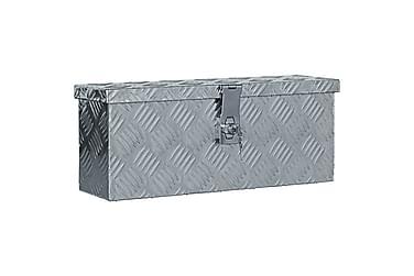 Aluminiumsboks 48,5x14x20 cm sølv