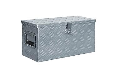 Aluminiumsboks 61,5x26,5x30 cm sølv