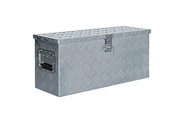 Aluminiumsboks 76,5x26,5x33 cm sølv