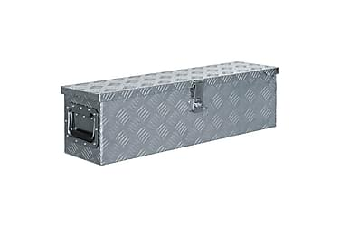 Aluminiumsboks 80,5x22x22 cm sølv