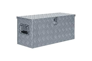 Aluminiumsboks 80x30x35 cm sølv
