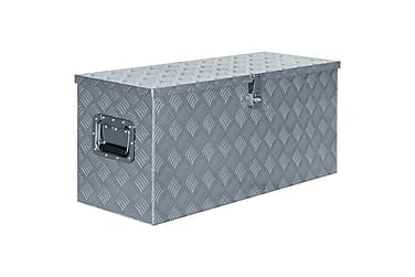 Aluminiumsboks 90,5x35x40 cm sølv
