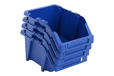Oppbevaringsbokser Stablingsbare 150 stk 125x195x90 mm blå
