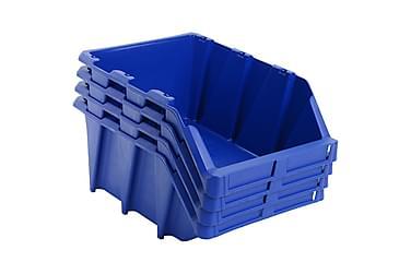 Oppbevaringsbokser Stablingsbare 20 stk 265x420x178 mm blå