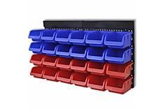 Veggmontert verktøyorganisator 2 stk blå og rød