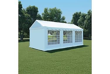 Hagetelt PVC 3x6 m hvit