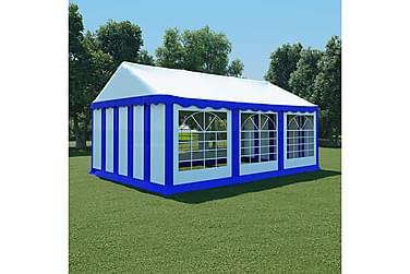 Hagetelt PVC 4x6 m blå og hvit