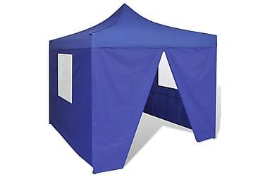 Sammenleggbart telt med 4 vegger 3x3 m blå