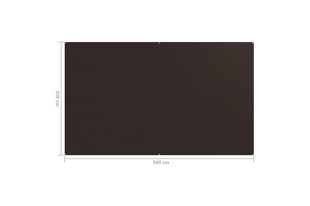 Teltteppe 300x500 cm brun - Brun - Hage - Utendørsoppbevaring - Hagetent & lagertelt