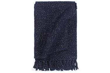Pledd lurex 160x210 cm marineblå