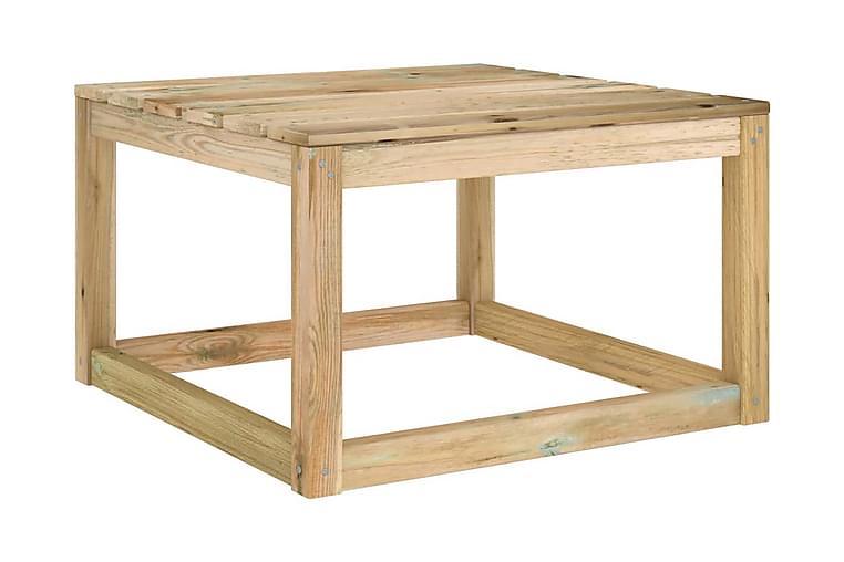 Hagepallebord 2 stk 60x60x36,5 cm impregnert furu - grønn - Hagemøbler - Balkongmøbler - Balkongstoler