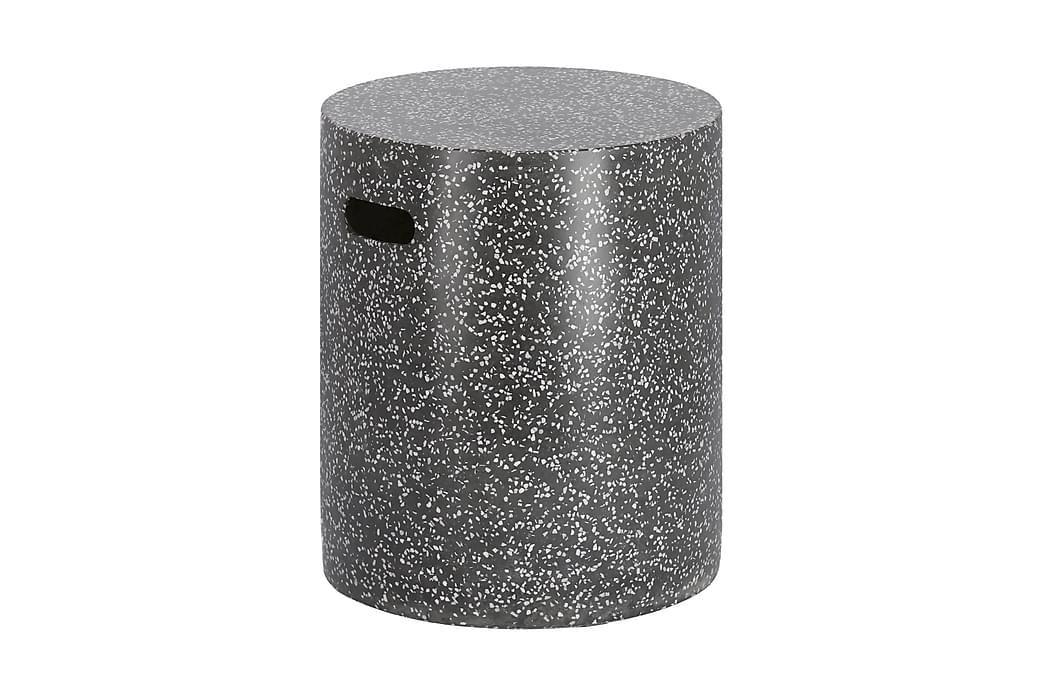 Jenell Puff/Sidebord 35 cm Terrazzo/Svart - La Forma - Hagemøbler - Balkongmøbler - Balkongstoler