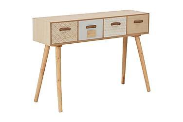 Konsollbord med 4 skuffer 110x30x75 cm heltre furu