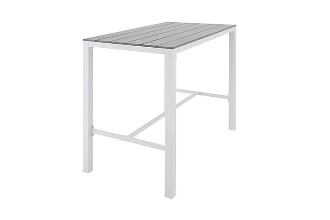Mulilo Barbord 140x140 - Aintwood/Hvit - Hagemøbler - Hagebord - Barbord