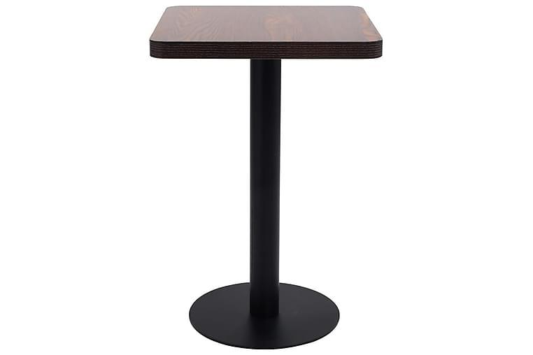 Bistrobord mørkebrun 50x50 cm MDF - Brun - Hagemøbler - Hagebord - Cafébord