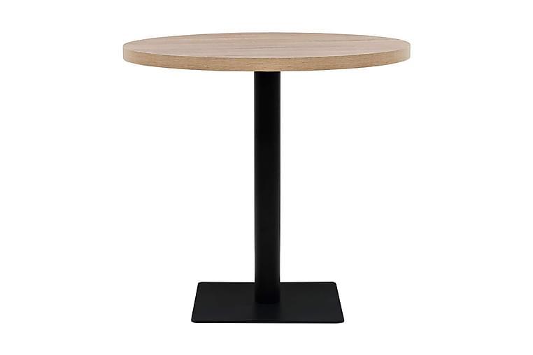 Bistrobord MDF og stål rund 80x75 cm eikefarge - Eik - Hagemøbler - Hagebord - Cafébord