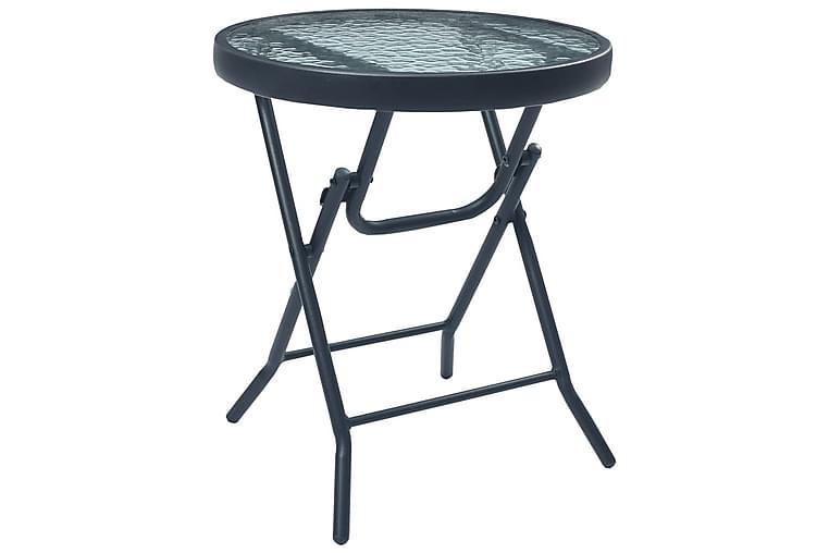 Bistrobord svart 40x46 cm stål og glass - Svart - Hagemøbler - Hagebord - Cafébord