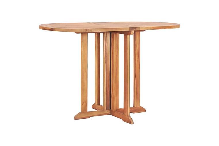 Sammenleggbart sommerfuglbord for hage 120x70x75cm heltre te - Brun - Hagemøbler - Hagebord - Cafébord