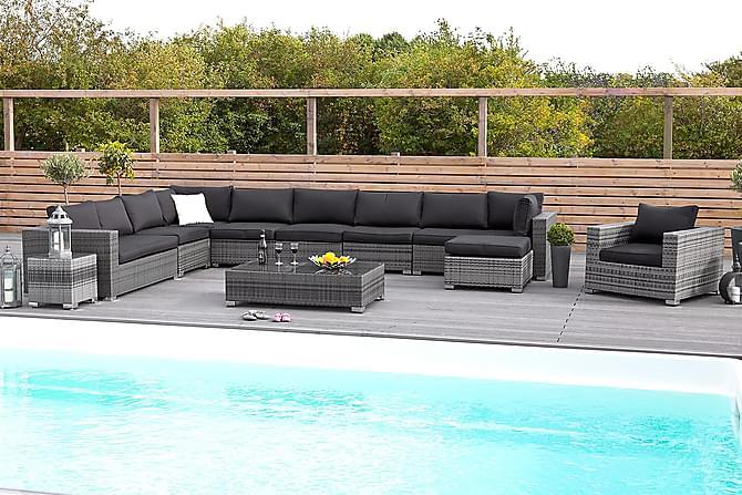 Bahamas Sidebord 43x43x43 cm - Grå - Hagemøbler - Velg etter materiale - Kunstrotting