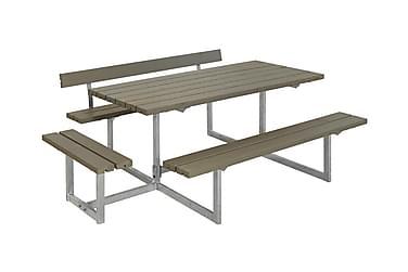 Basic bord- og benkesett med 1 ryggstøtte + 1 påbygging