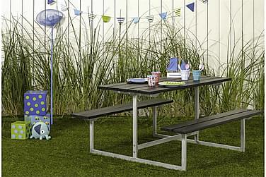Basic bord- og benkesett til barn svart