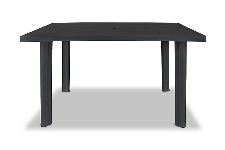 Hagebord antrasitt 126x76x72 cm plast - Antrasitt - Hagemøbler - Hagebord - Spisebord