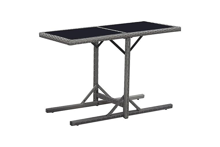 Hagebord svart 110x53x72 cm glass & polyrotting - Hagemøbler - Hagebord - Spisebord