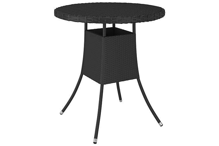 Hagebord svart 70x70x73 cm polyrotting - Svart - Hagemøbler - Hagebord - Spisebord