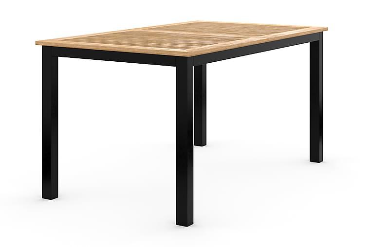 Las Vegas Forlengningsbart Spisebord 152-210x90 cm - Svart/Teak - Hagemøbler - Hagebord - Spisebord