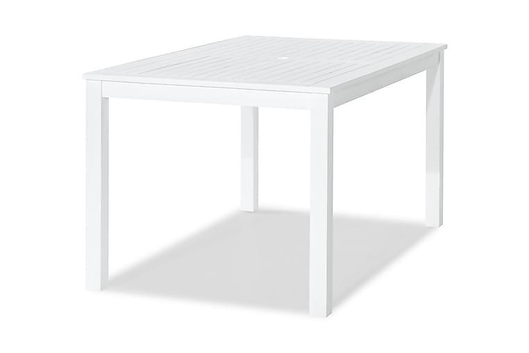 Lidö Spisebord 150x90 cm - Hvitlakkert Akasie - Hagemøbler - Hagebord - Spisebord