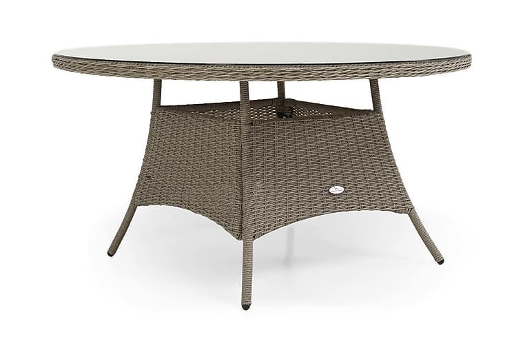 Marcus Spisebord 140 cm Rundt - Grå - Hagemøbler - Hagebord - Spisebord