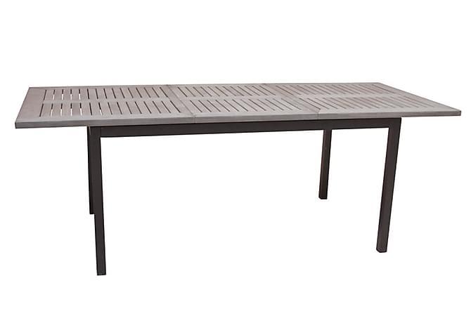 Monaco 220-280 svart/grå MG - Hagemøbler - Hagebord - Spisebord