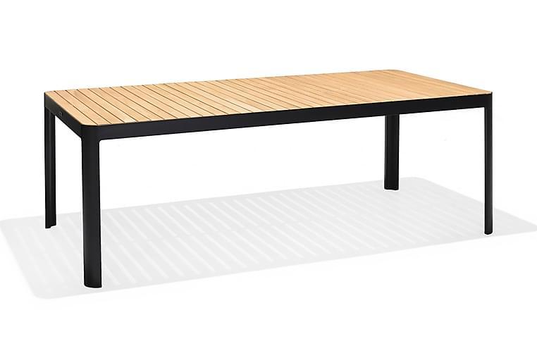 Portals Spisebord 209 cm - Svart/Tre - Hagemøbler - Hagebord - Spisebord