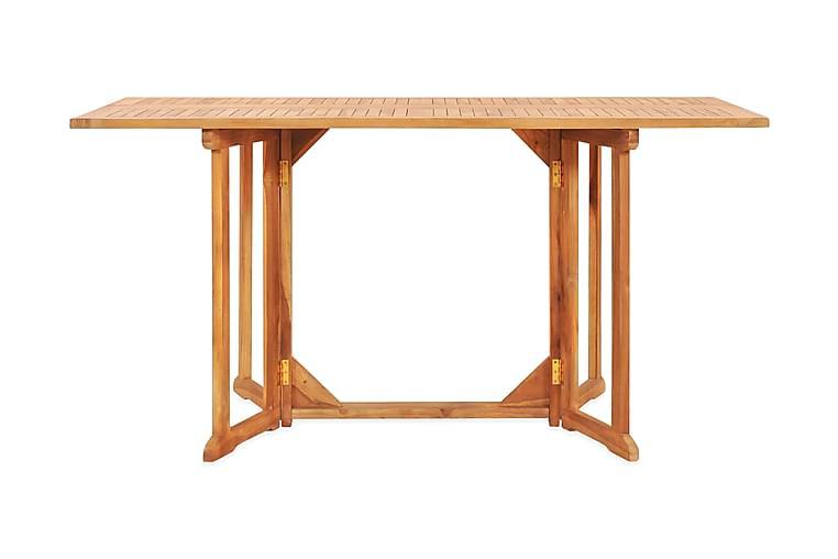 Sammenleggbart sommerfuglbord for hage 150x90x75cm heltre te - Brun - Hagemøbler - Hagebord - Spisebord
