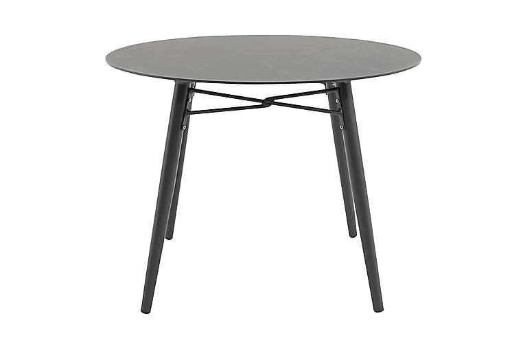 Santorini Spisebord Rundt 100 cm - Glass/Svart - Hagemøbler - Hagebord - Spisebord