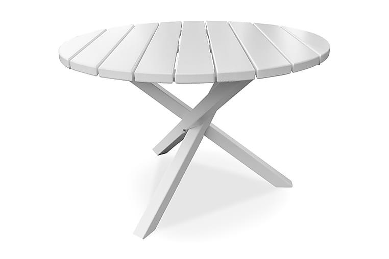 Scottsdale Fasta Spisebord 112 cm Rundt Hvit - KWA - Hagemøbler - Hagebord - Spisebord