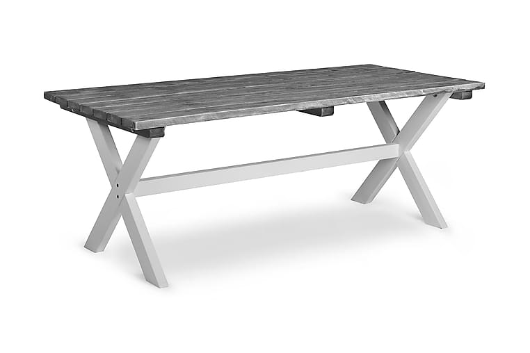 Shabby Chic Bord 195x86 cm - Grå/Hvit - Hagemøbler - Hagebord - Spisebord