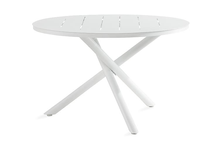 Space Spisebord 120 cm Rund - Hvit - Hagemøbler - Hagebord - Spisebord
