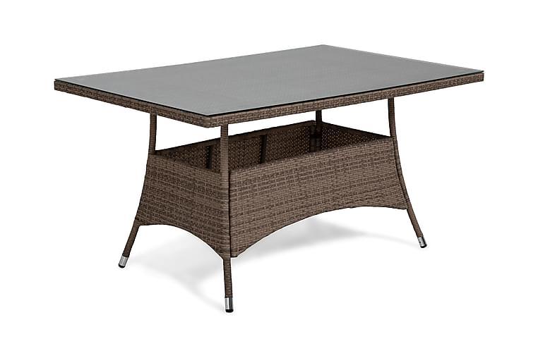 Thor Spisebord 140x90 cm - Sand - Hagemøbler - Hagebord - Spisebord