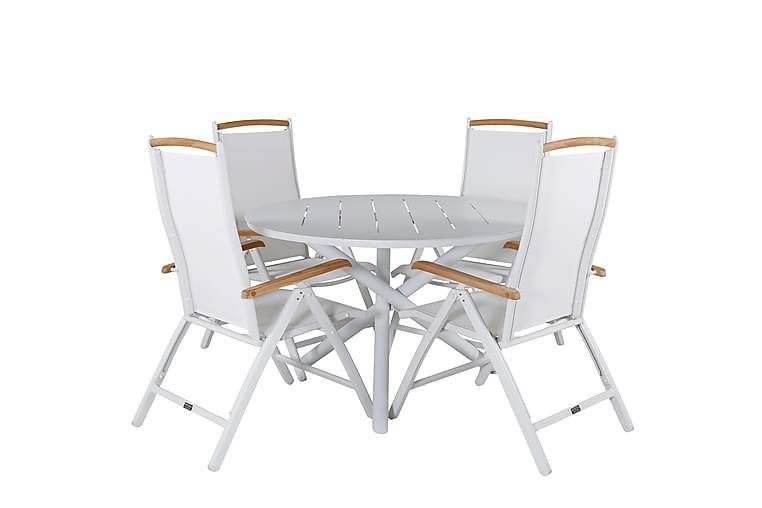 Almedalen Spisebord med 4 Panacotta Spisestoler - Hagemøbler - Spisegrupper hage - Komplette spisegrupper