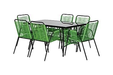Cava Bord 140 + 6 Stoler Grønn