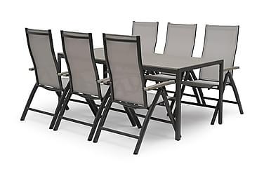 Hillerstorp Åminne Spisegruppe 80x140 + 6 Posisjonsstoler