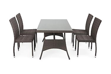 Hillerstorp Atlanta Spisegruppe 80x140 + 4 Stablestoler