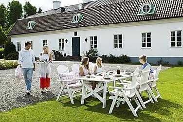 Hillerstorp Bullerö Spisegruppe 90x200 + 6 Posisjonsstoler